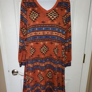 Lularoe Aztec Emily Dress Size S NWT